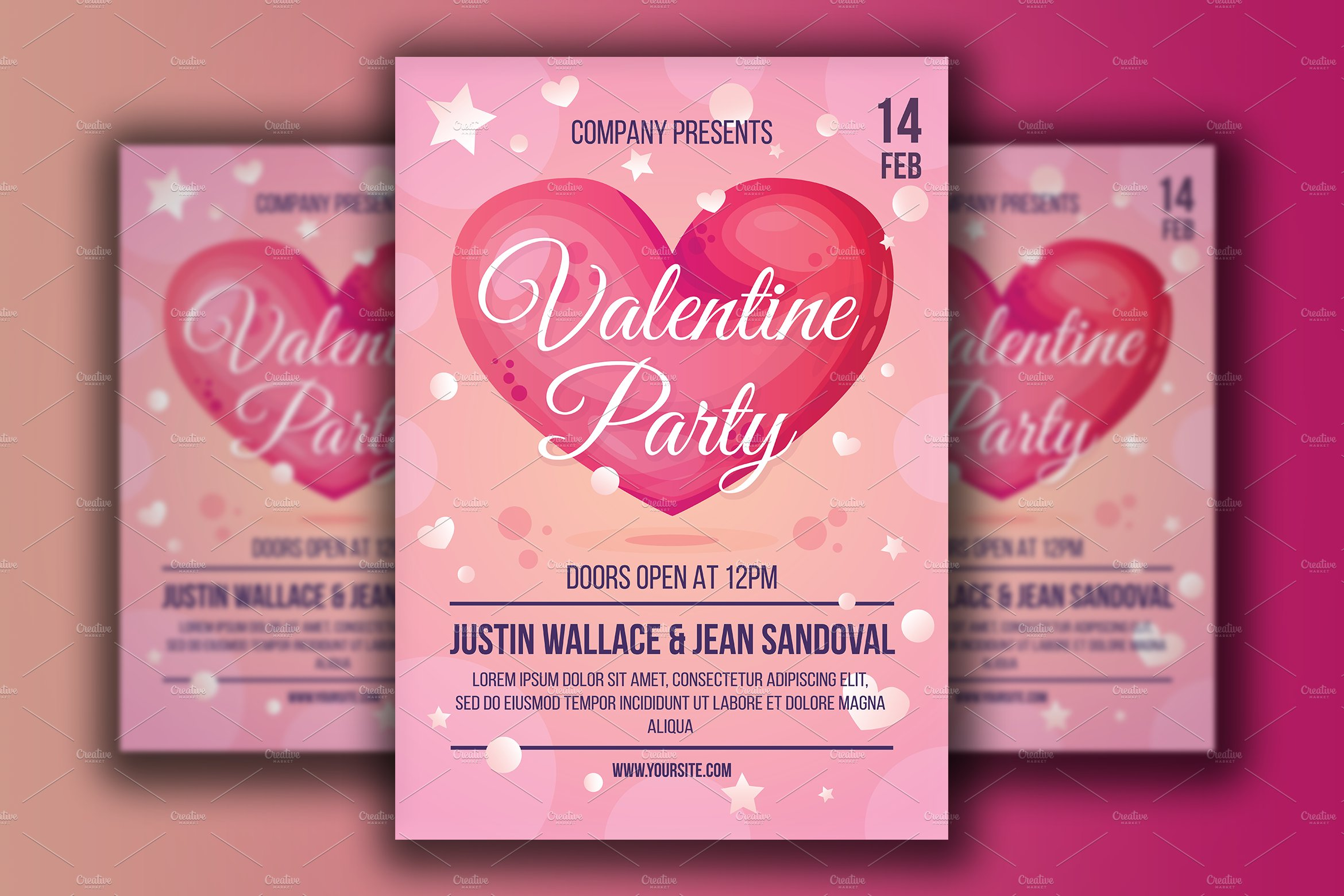 Valentine Day Poster Corporate Identity Template