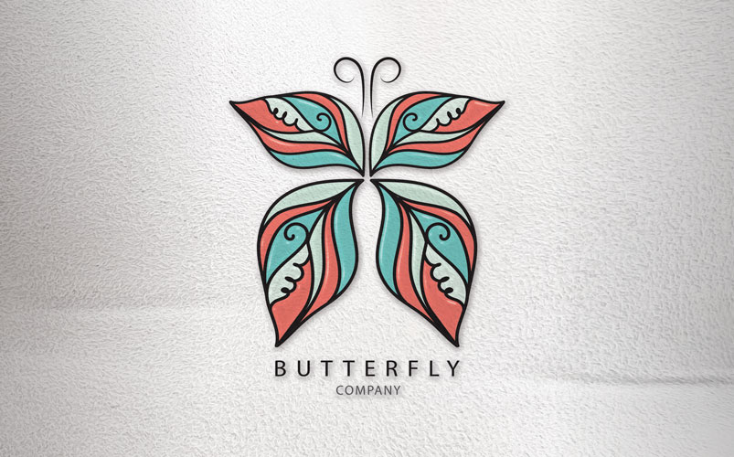 Butterfly vector Logo Template