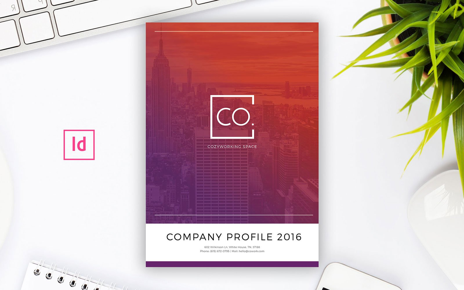 Company Profile Indesign Magazine Template