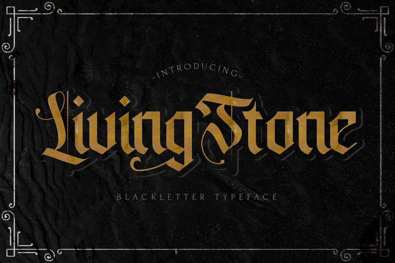 Livingstone - Blackletter Decorative Font