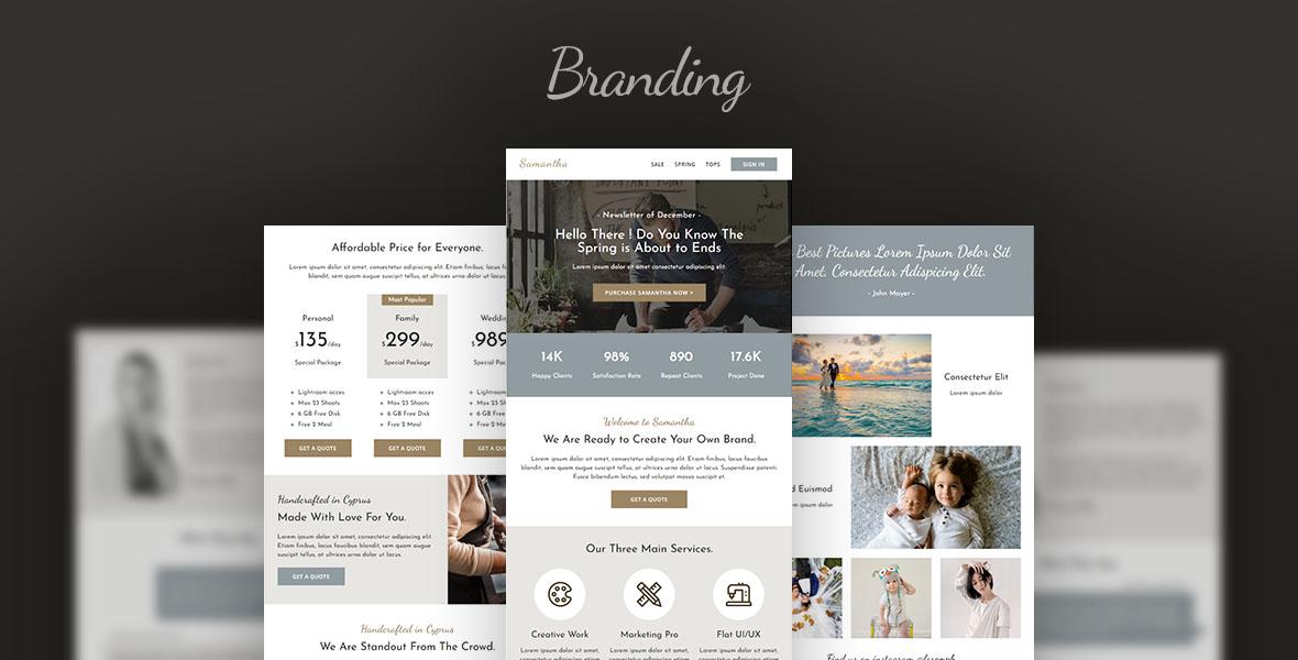 """Newsletter šablona """"Branding - Creative Agency Email"""" #107105"""