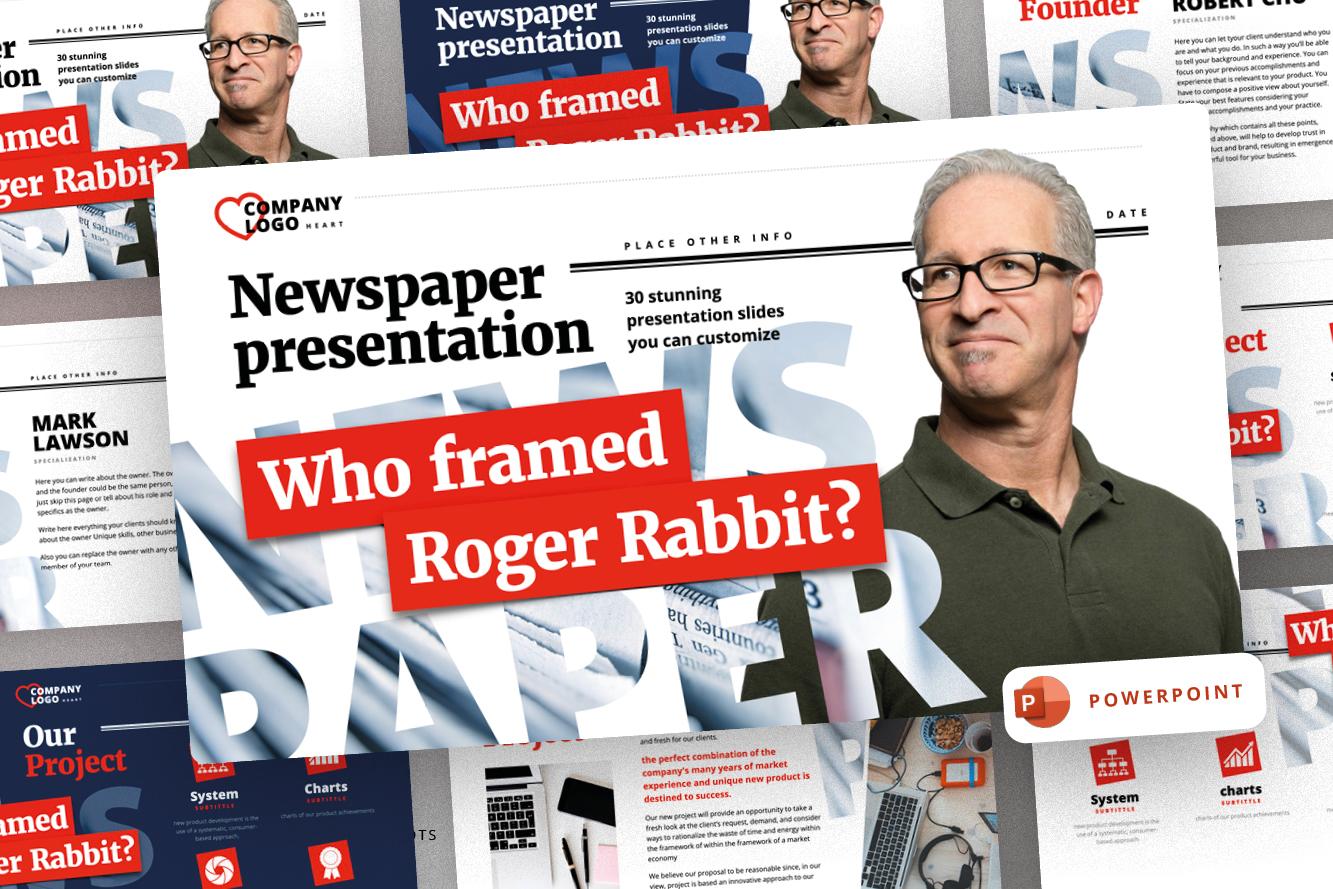 Newspaper Presentation PowerPoint Template