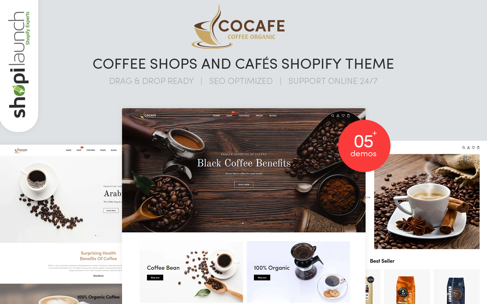 Cocafe - Coffee Shops and Cafés Responsive Shopify Theme