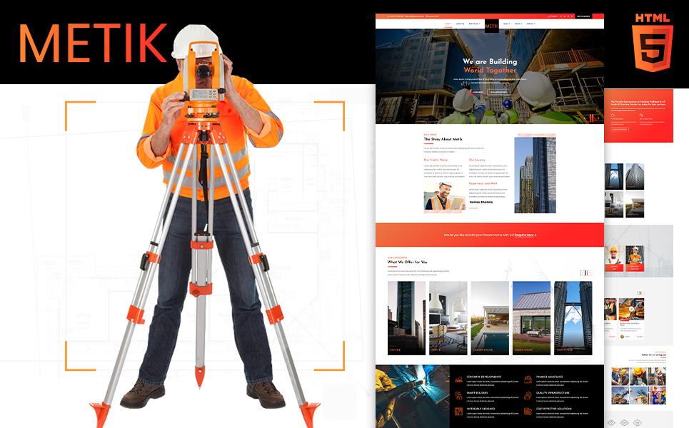 """Metik | Construction HTML5"" Bootstrap网页模板 #107316"