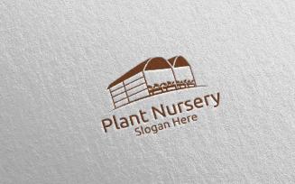Plant Nursery Botanical Gardener Design 18 Logo Template