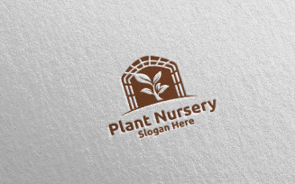 Plant Nursery Botanical Gardener Design 19 Logo Template