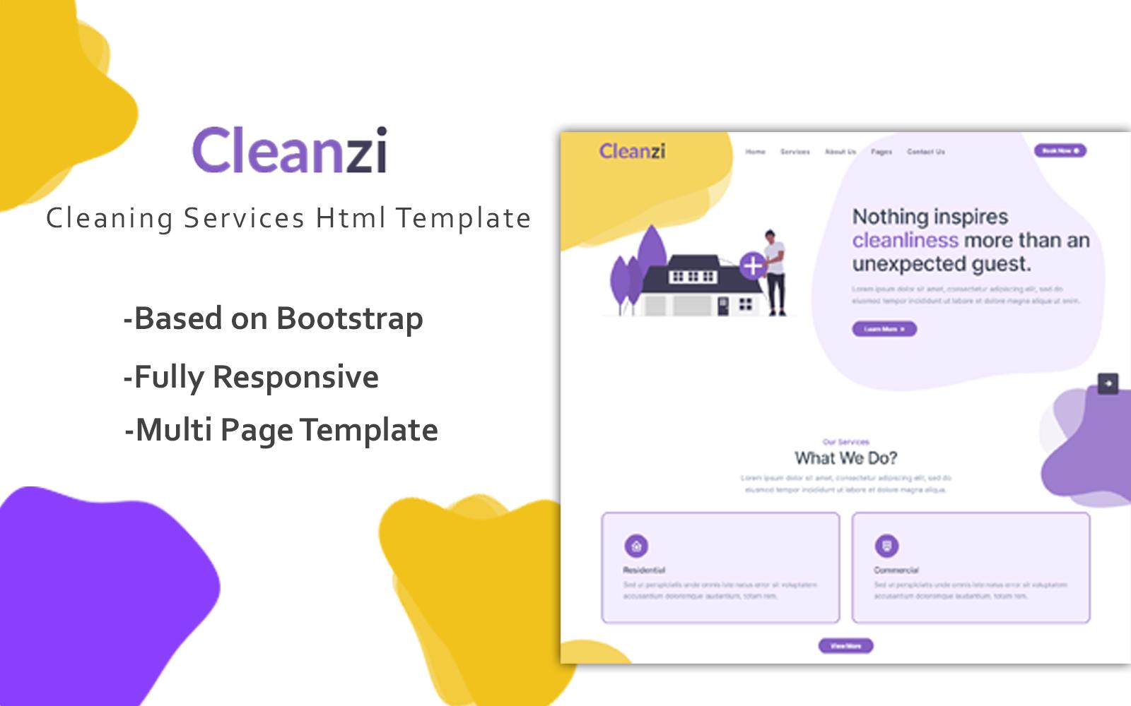 """Responzivní Šablona webových stránek """"Cleanzi - Cleaning Service Html Website Template"""" #107314"""