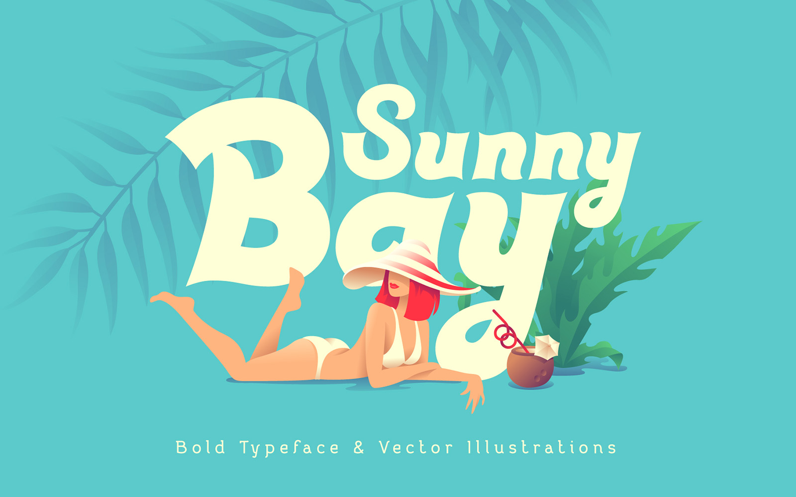 Sunny Bay and graphics Font