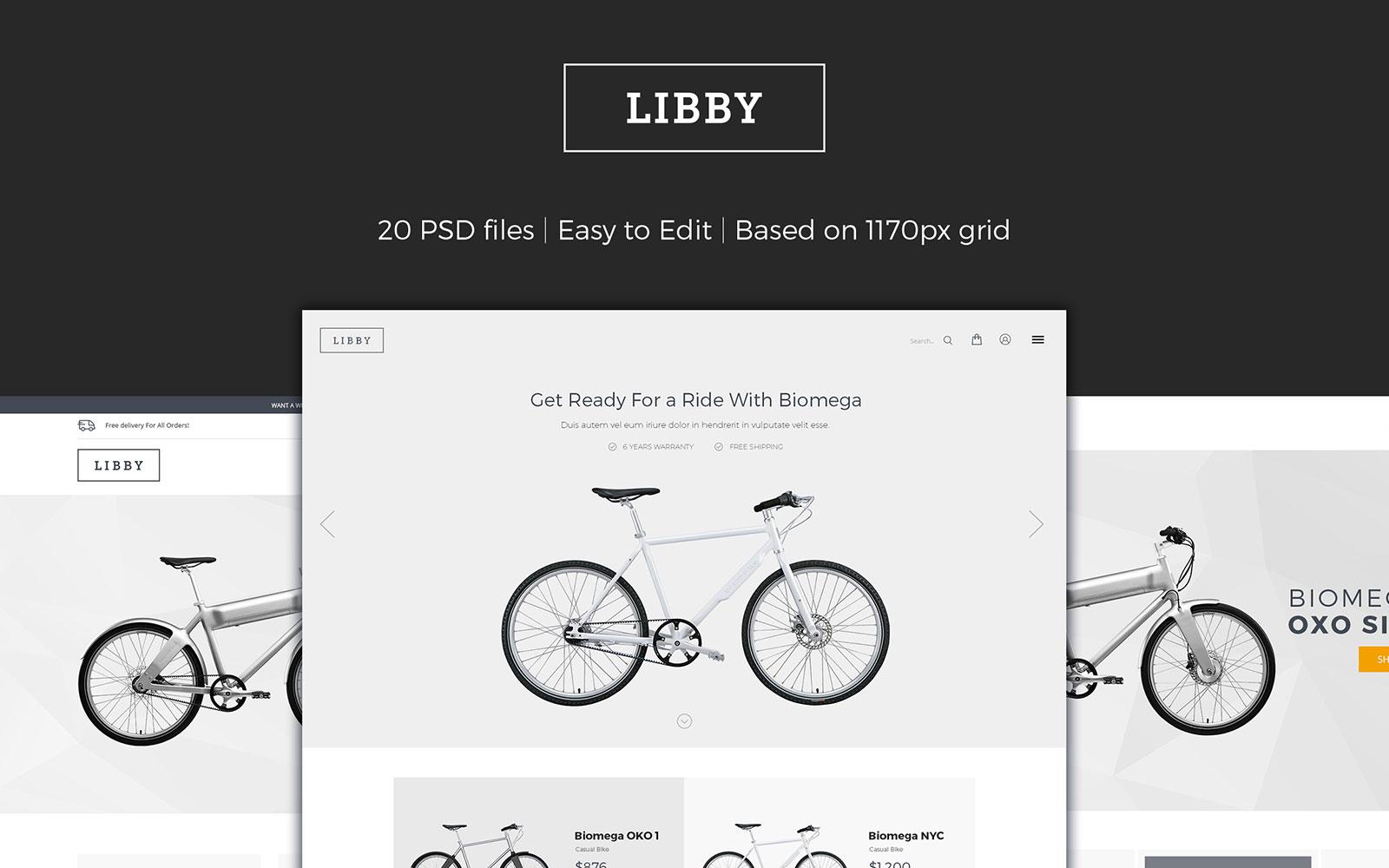 """Tema PSD #107313 """"Libby - eCommerce"""""""