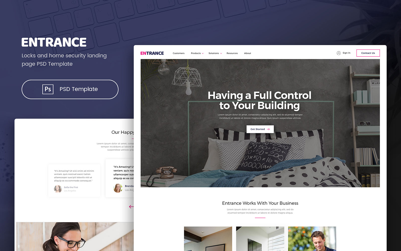 """Template PSD #107317 """"Entrance - Locks and Home Security"""""""