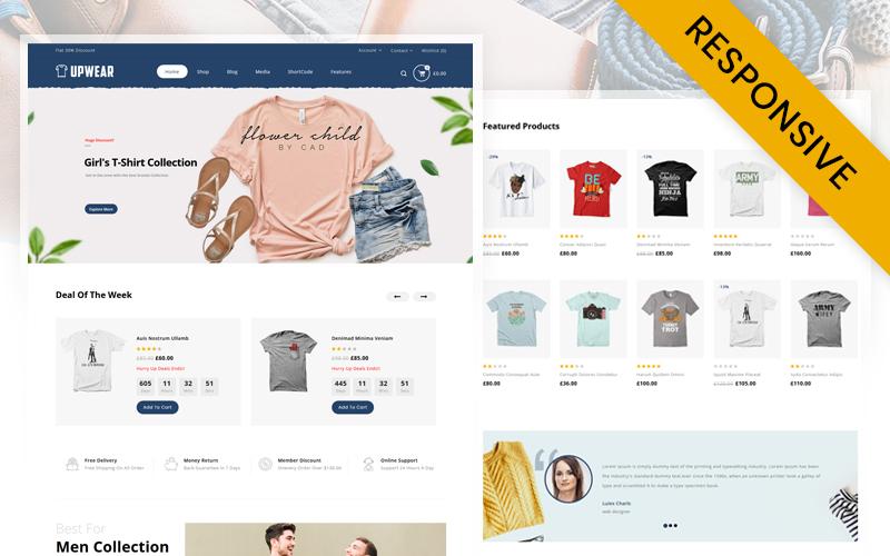 Upwear - Tshirts Store WooCommerce-thema