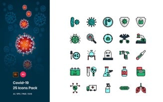 Covid-19 Pack Icon Set