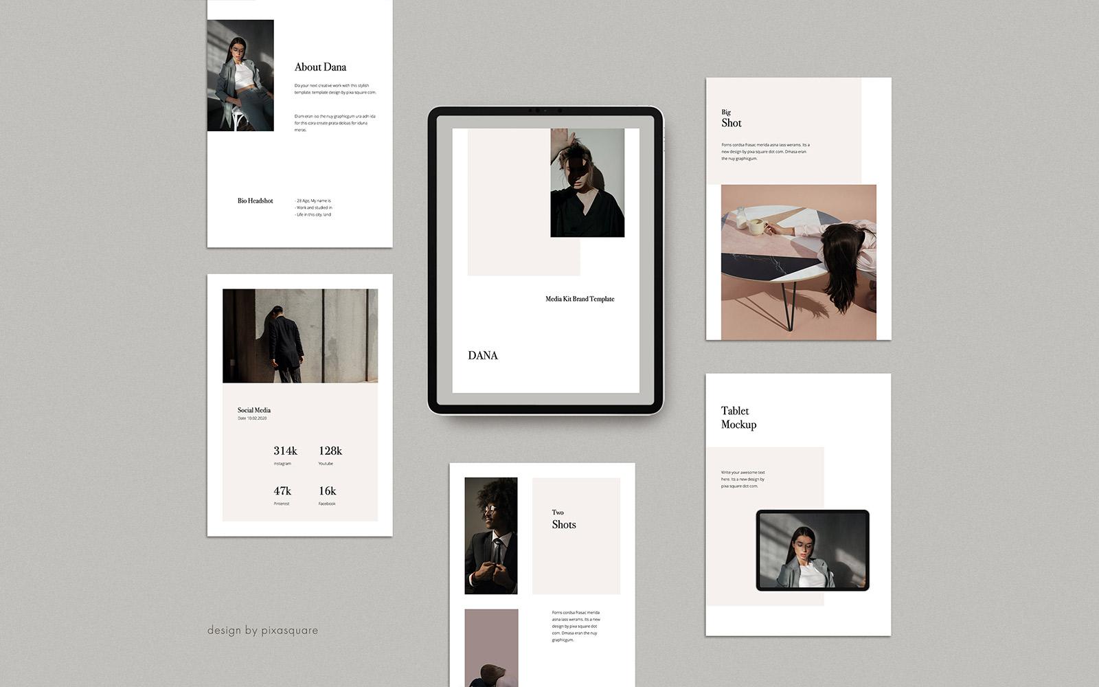 DANA - A4 Vertical Media/Press Kit PowerPoint Template