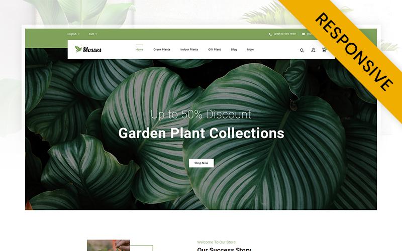 """Mosses Plant Store"" thème PrestaShop adaptatif #107446"
