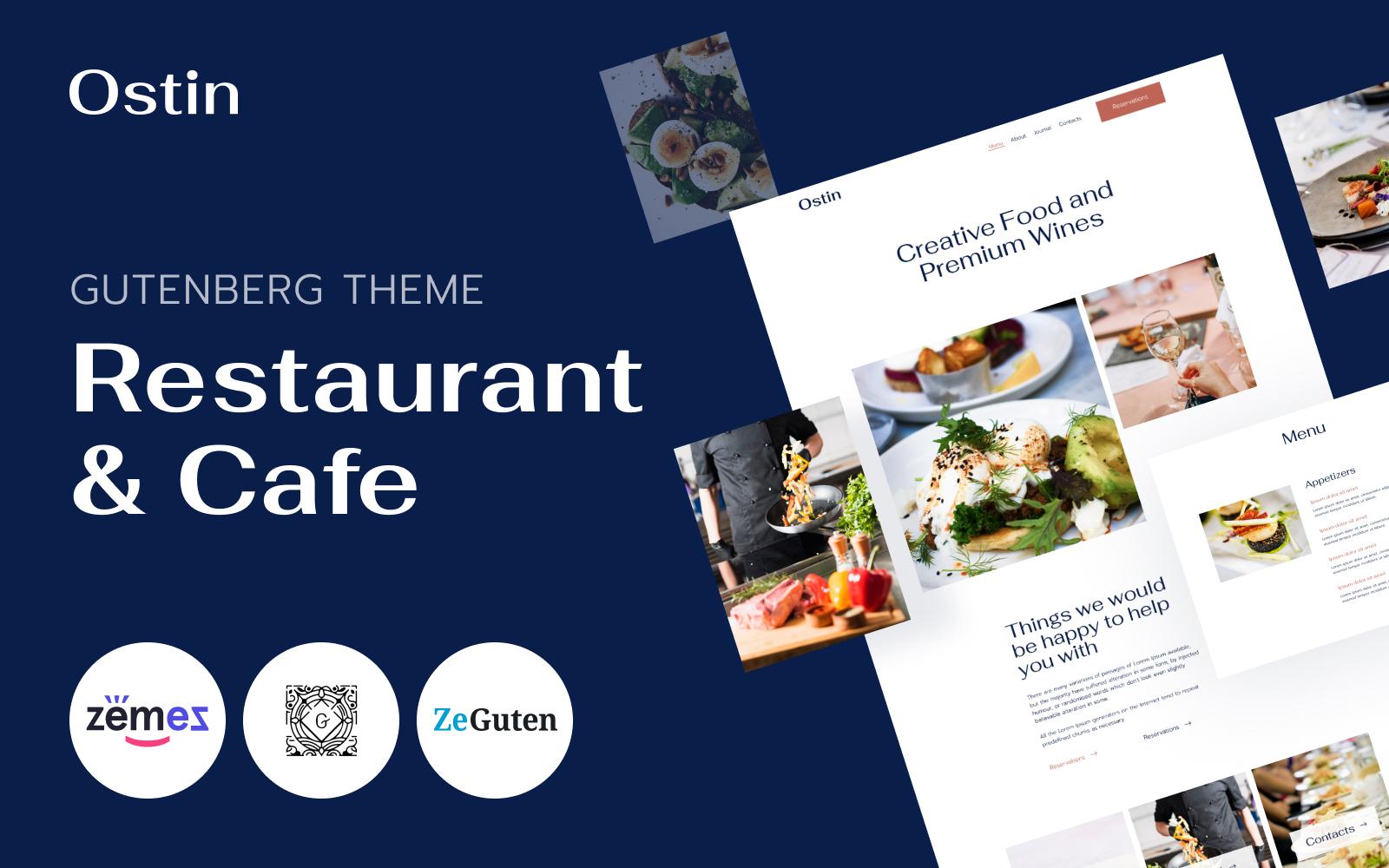 Ostin - Restaurant WordPress Theme for Gutenberg №107448