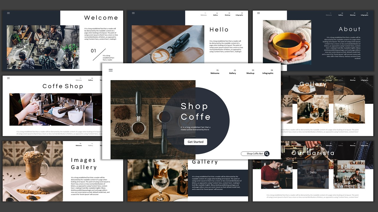 Shop Cofee – Creative Business Google Slides
