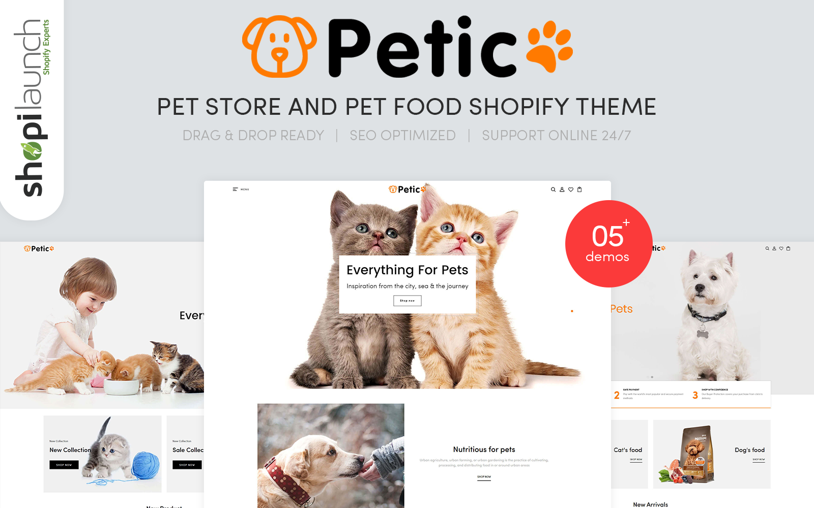 Petic - Pet Store and Pet Food Responsive Shopify Theme