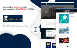 Alumnius- Laravel Association Management System Website Template