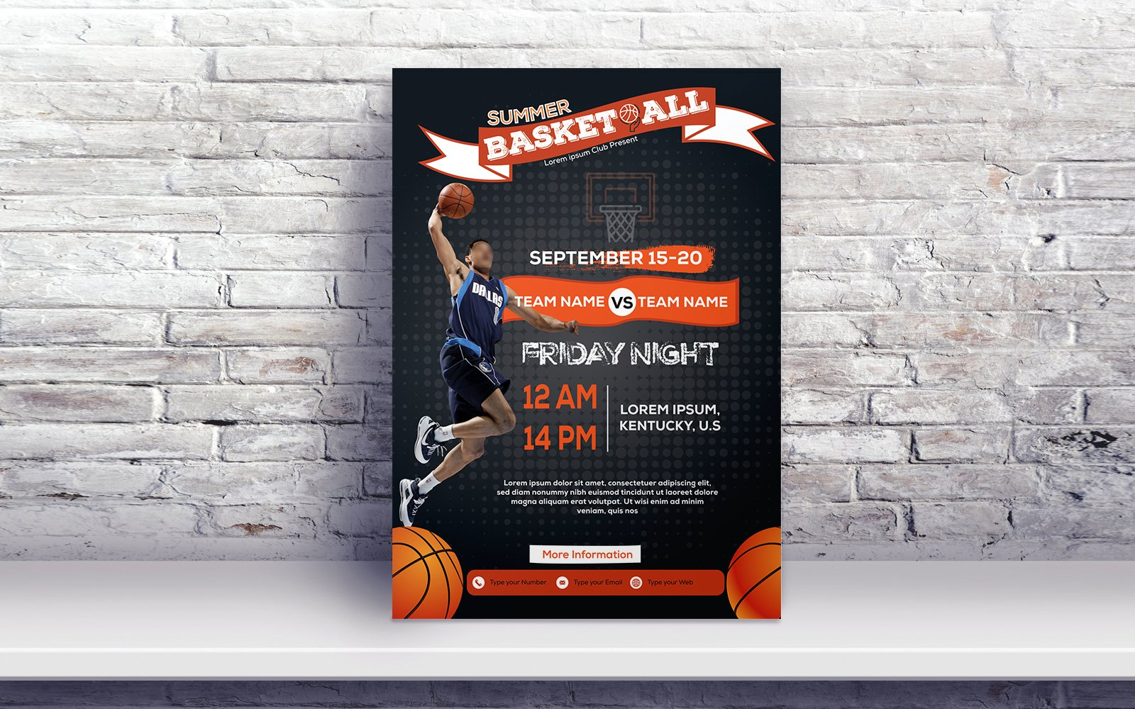 Basketball Flyer Corporate Identity Template