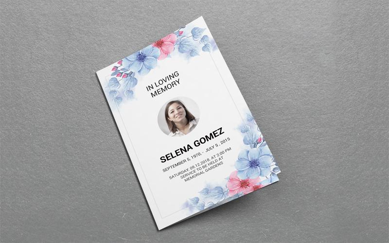 Editable Funeral Program Corporate Identity Template
