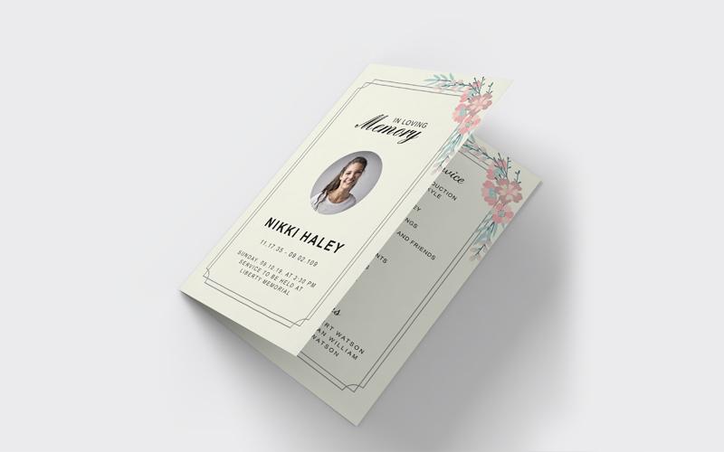 Funeral Program Corporate Identity Template