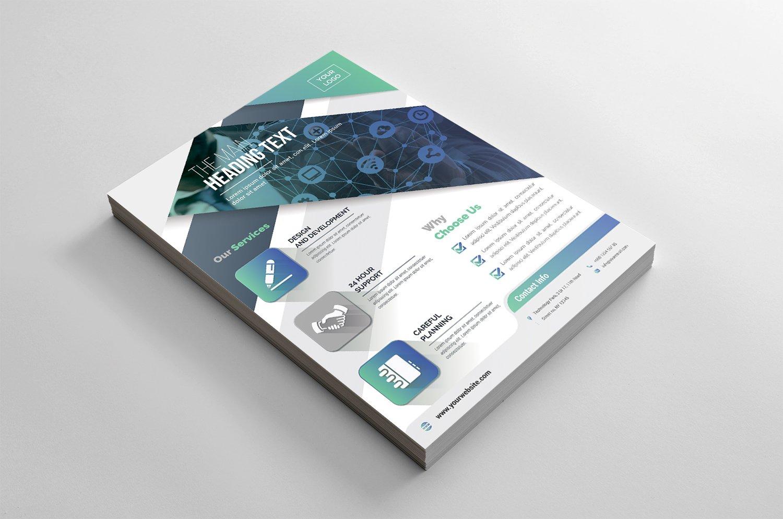 Geometric Flyer Corporate Identity Template