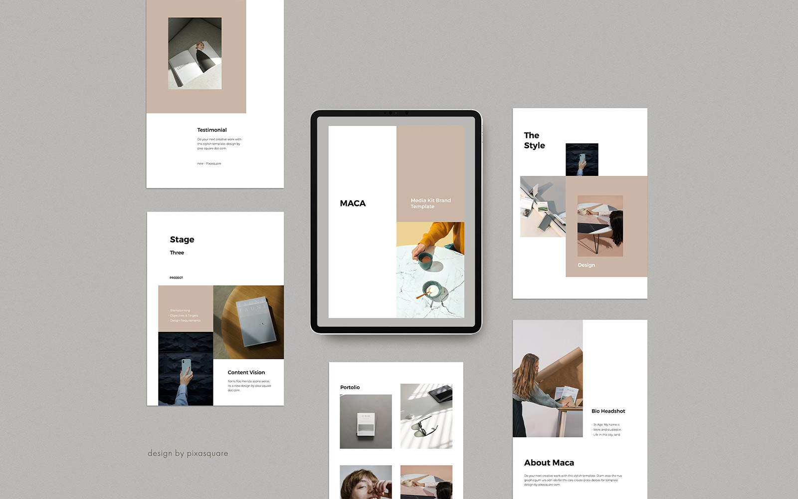 MACA - A4 Vertical Media/Press Kit Google Slides
