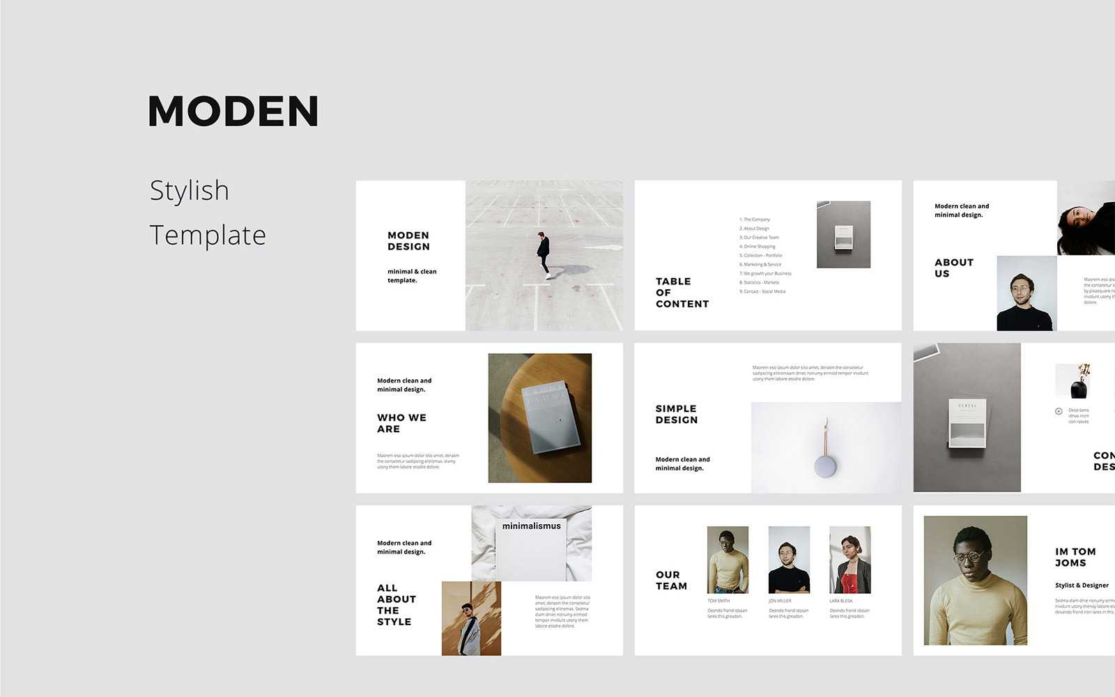 MODEN - Modern Keynote Template