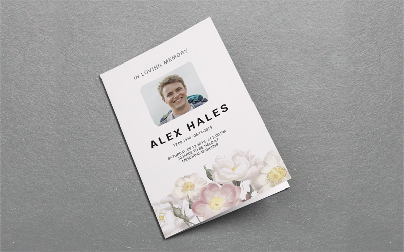 Printable Funeral Program Corporate Identity Template