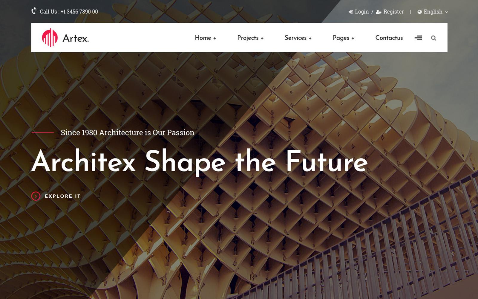 Responsywny szablon Joomla Architecture & Construction #107570