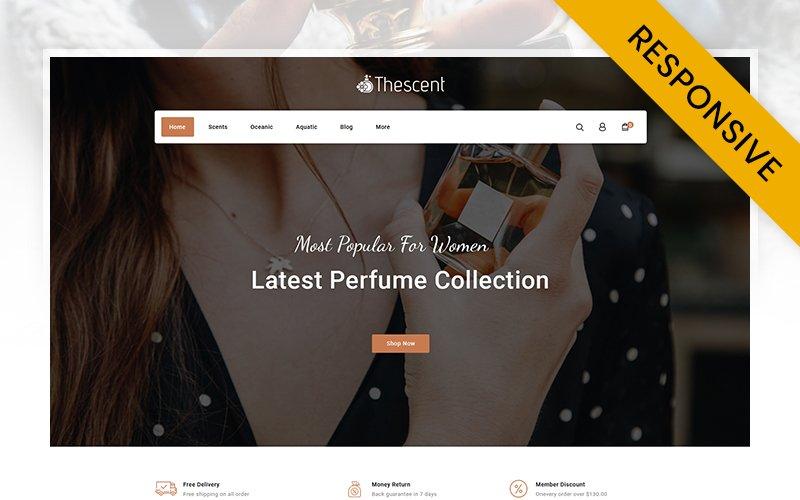 """TheScent - Perfume Store"" 响应式PrestaShop模板 #107580"