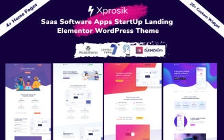 Xprosik - Saas Software App Startup Landing WordPress Elementor Theme
