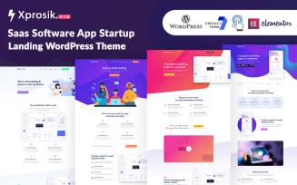 Xprosik - Saas Software App Startup Landing WordPress Elementor Theme