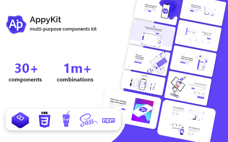 AppyKit - App & Software HTML Landing Page Template