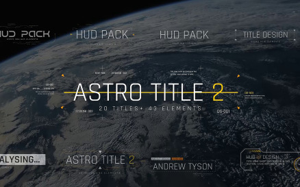 Astro Title 2 After Effects Template