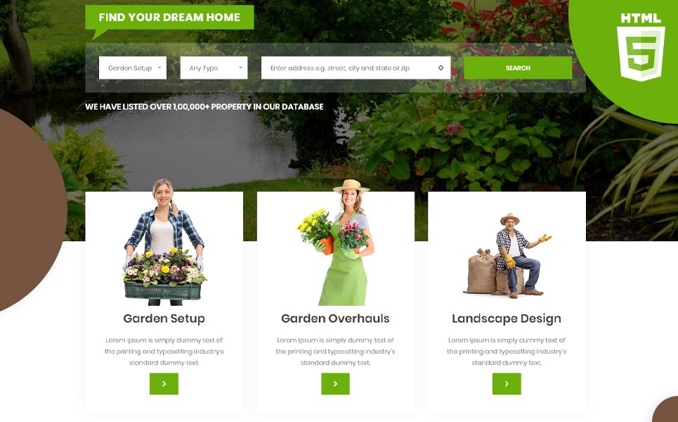 Gardenia   Gardening & plantation HTML5 №107859