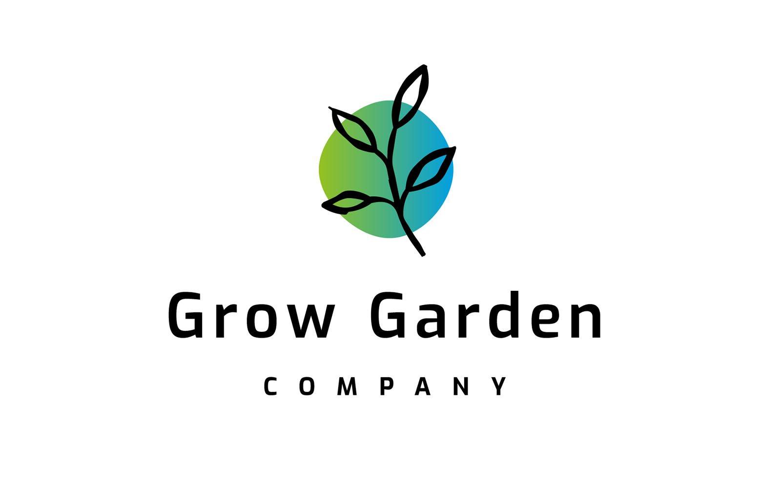 Grow Garden Logo Template
