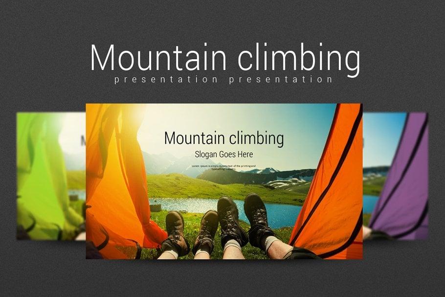Mountain Climbing PowerPoint Template