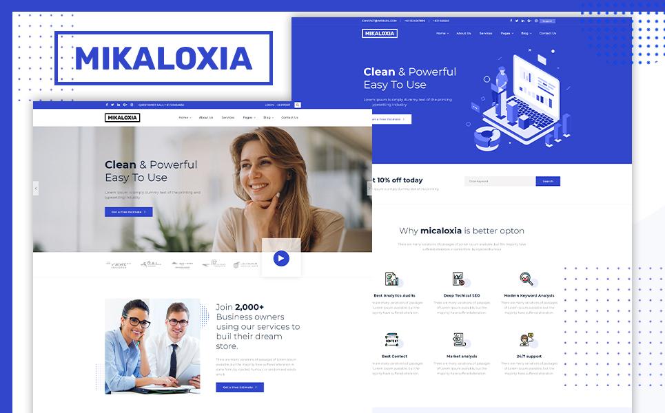 Reszponzív Mikaloxia   Multipurpose Business HTML5 Weboldal sablon 107867
