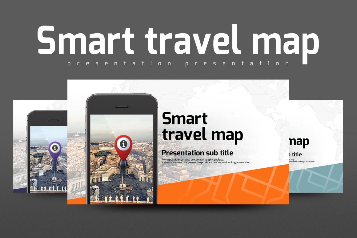 Smart Travel Map PowerPoint Template