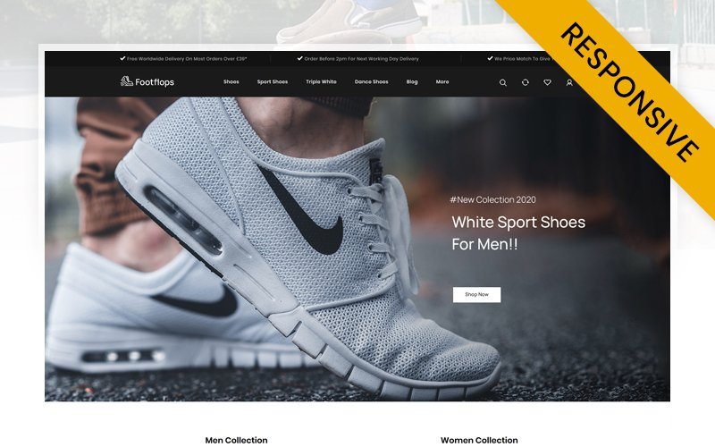 "Template PrestaShop Responsive #107872 ""Footflops - Footwear Store"""