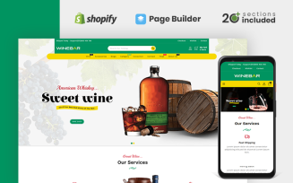 Winebar Alchohol & Drinks Store Shopify Theme
