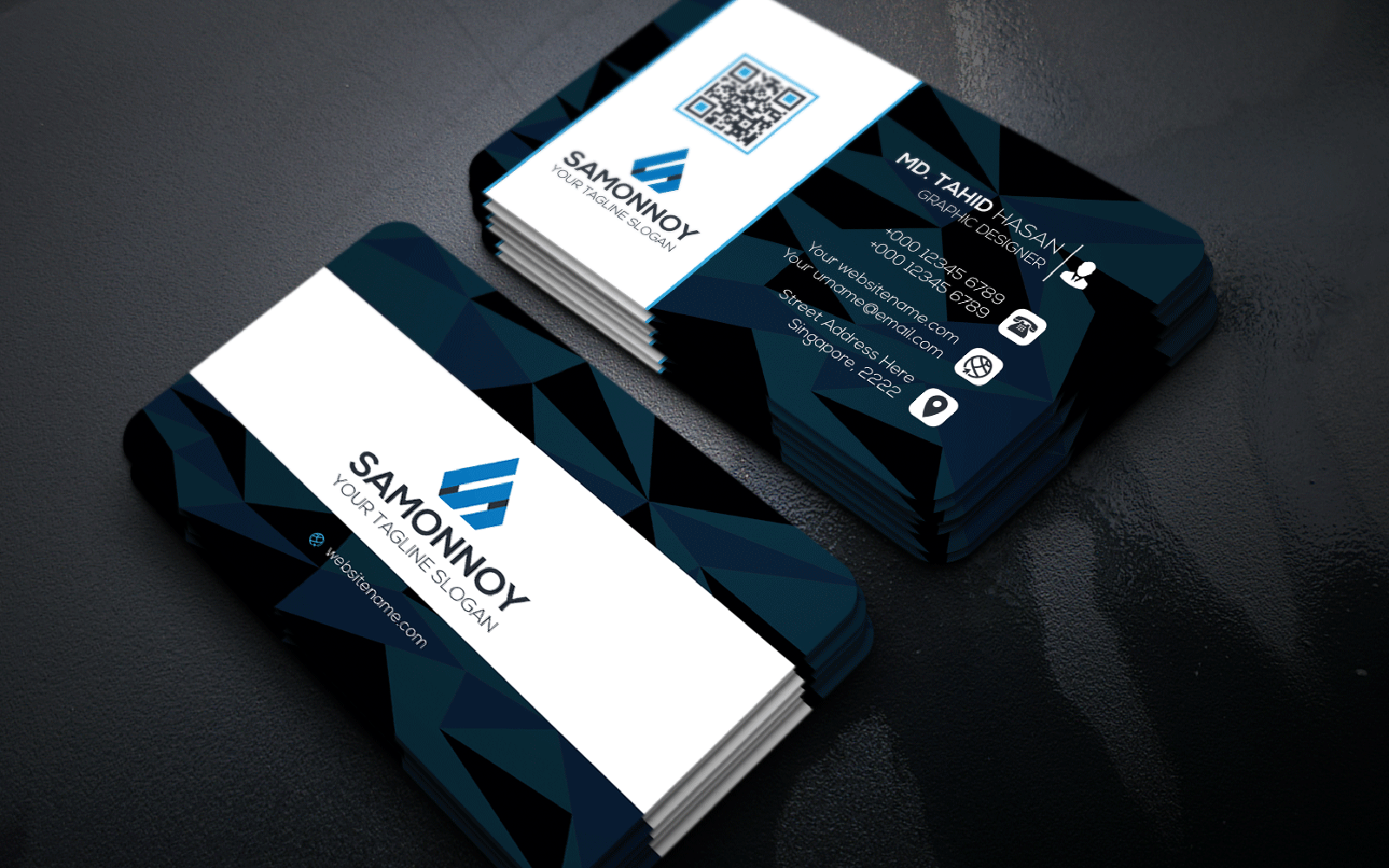 Abstract Business Card Corporate Identity Template