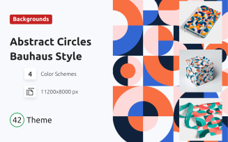 Abstract Circles Bauhaus Style Background