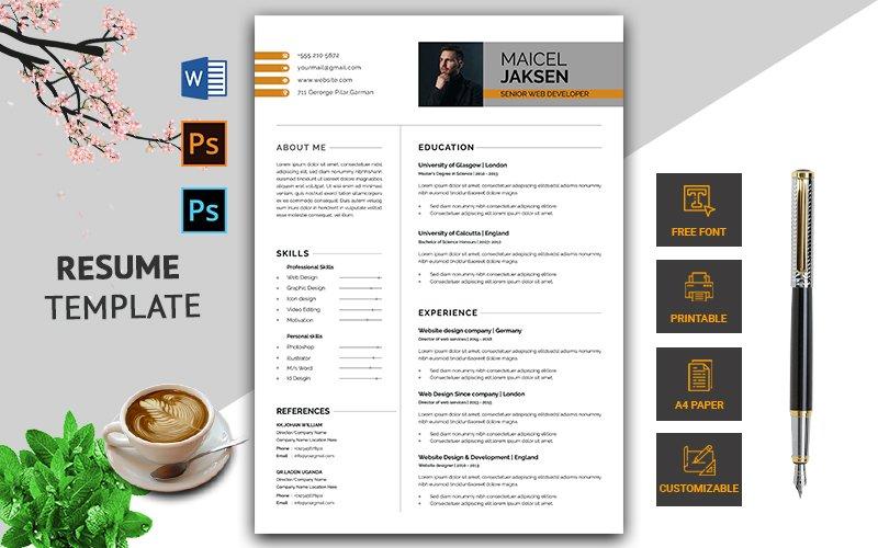 Creative & Modern CV Resume Template