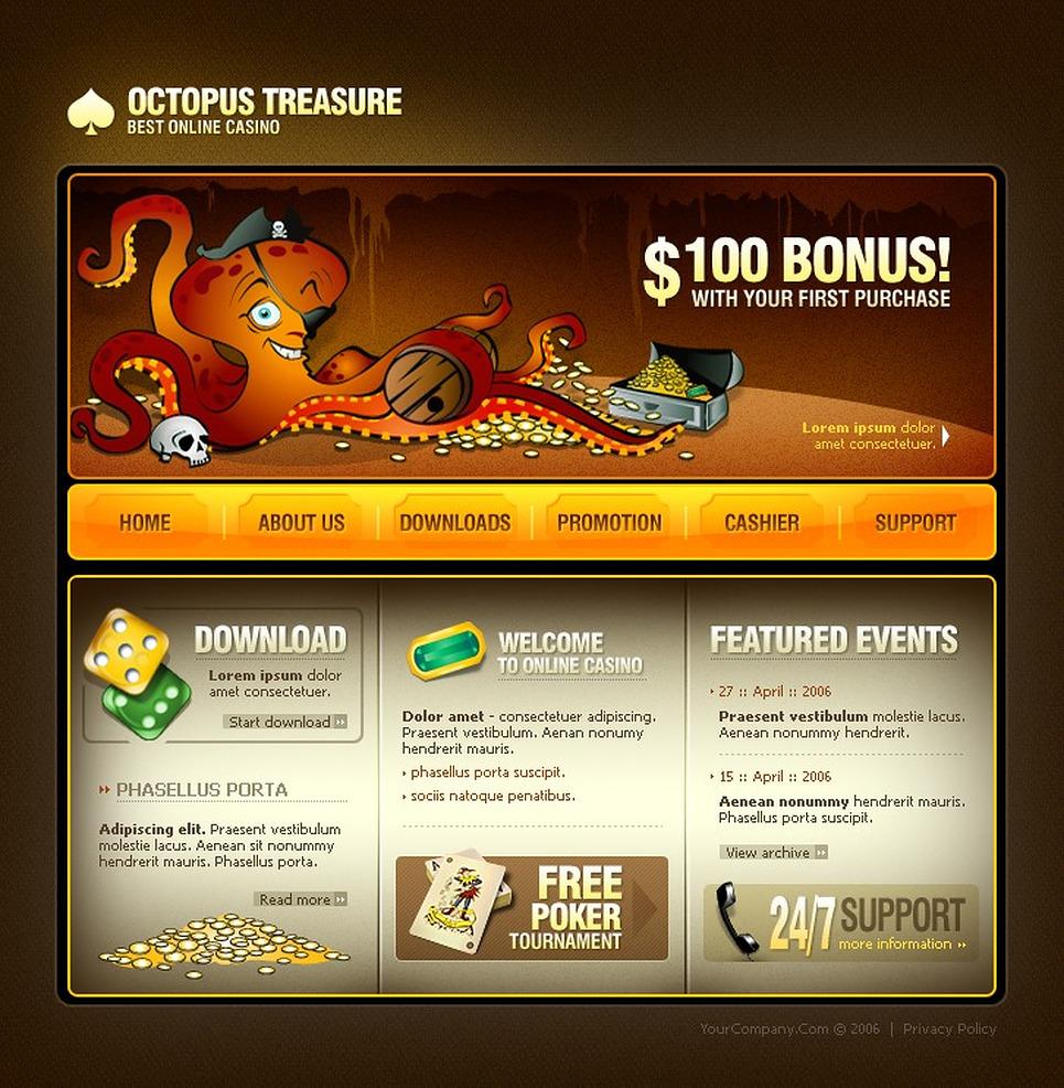 Бесплатный шаблон сайта казино tdu2 остров казино