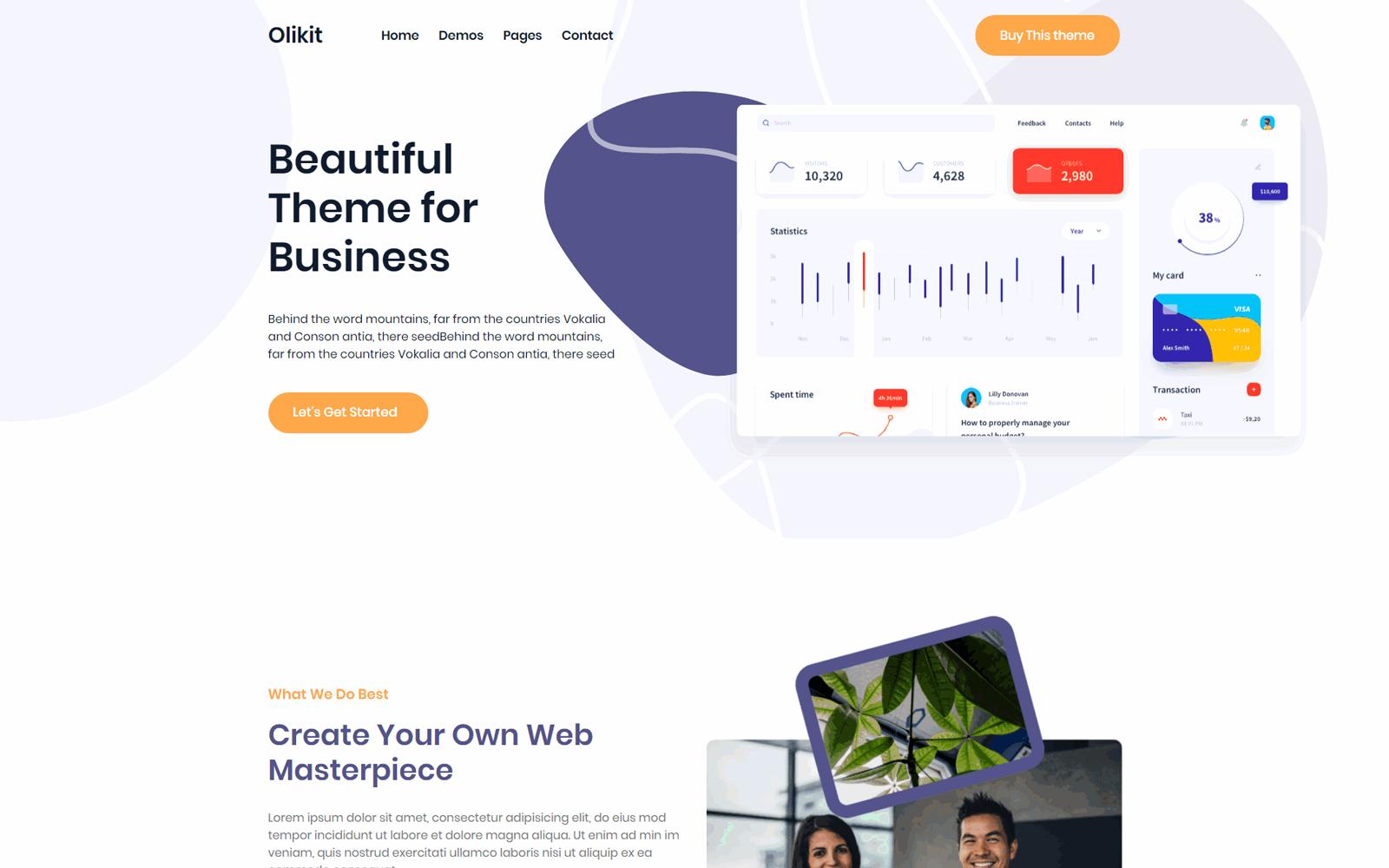 Olikit - Creative SaaS & Agency WordPress Theme