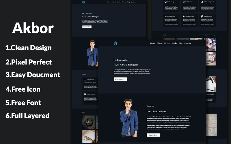 Akbor one Page Personal №108081
