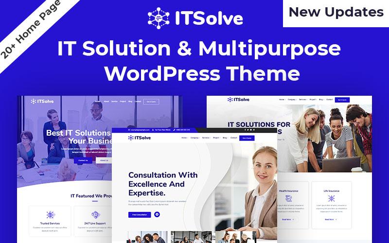 """Business  IT Solution & Multipurpose"" Responsive WordPress thema №108080"