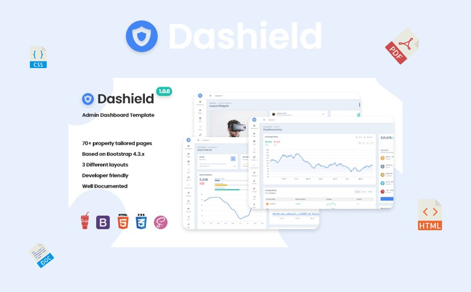 Dashield - Bootstrap 4 №108075